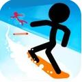 滑雪火柴人