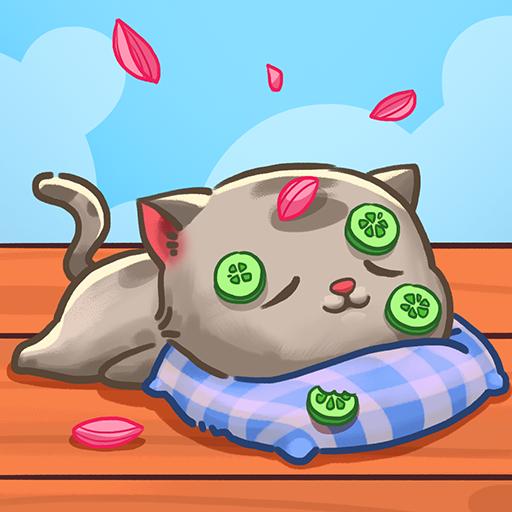 可爱的猫咪花园