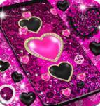 黑色粉红色闪光动态壁纸